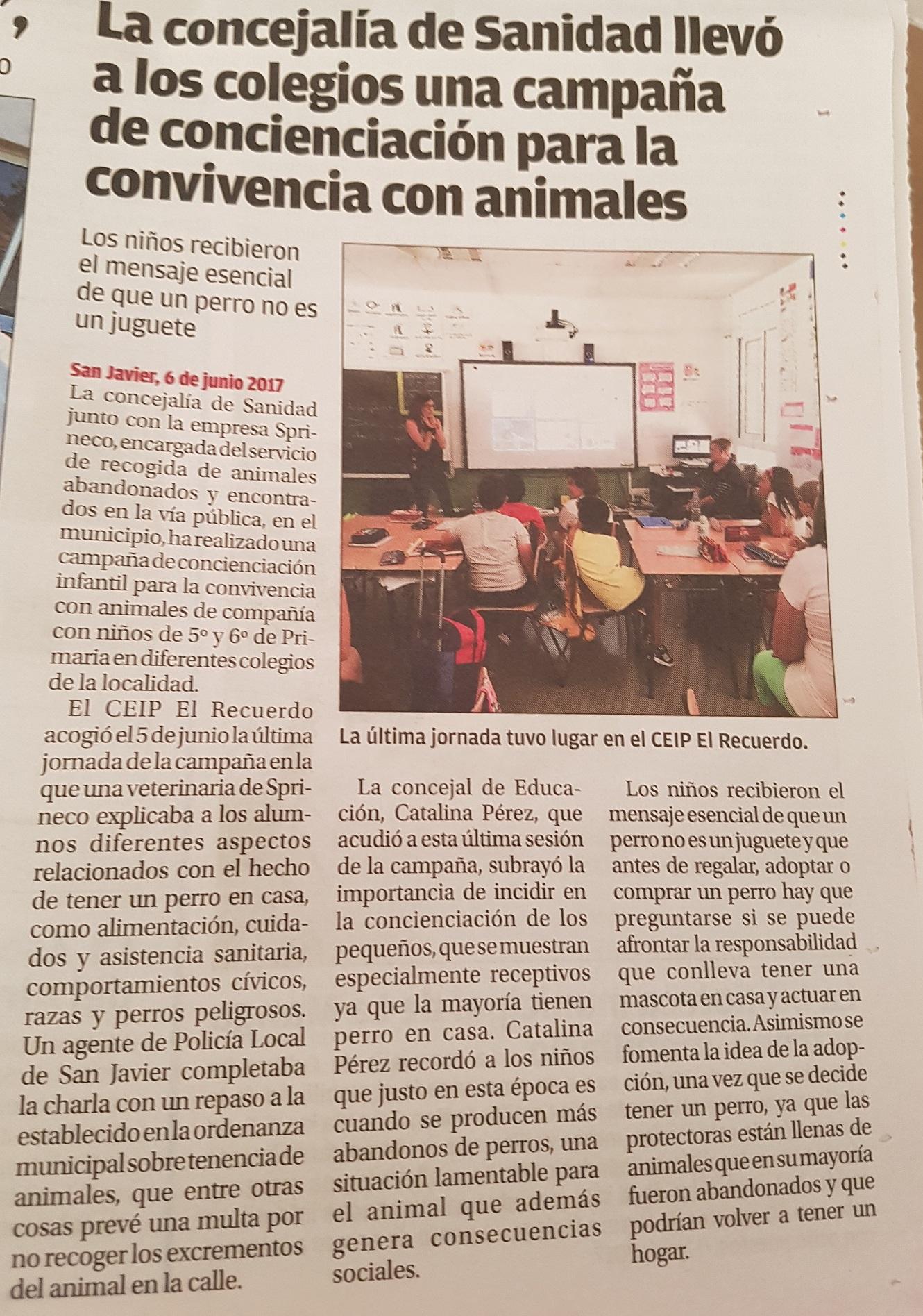 Gracias al periodico mensual del Ayuntamiento de San Javier