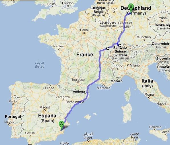 Nuevo viaje hacia Alemania